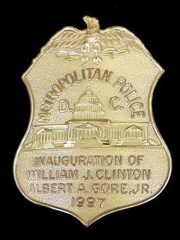 CLINTON GORE 1997 INAUGURATION METRO DC POLICE