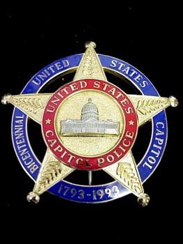 U.S. CAPITOL POLICE 200'th Anniversary 1793-1993 RARE