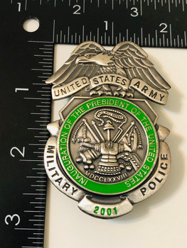 U.S. ARMY MILITARY POLICE BADGE 2001