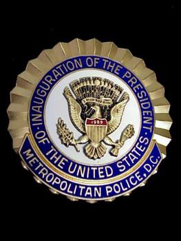 DC Metropolitan Police 1989 BUSH Presidential Inauguration # 1393 Breast Shield
