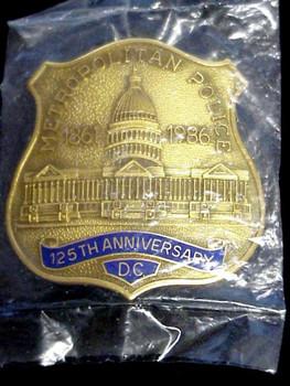 DC Metropolitan Police 1986 125th Anniversary # 2651