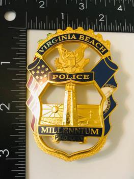 VIRGINIA BEACH POLICE 2000 MILLENNIUM BADGE