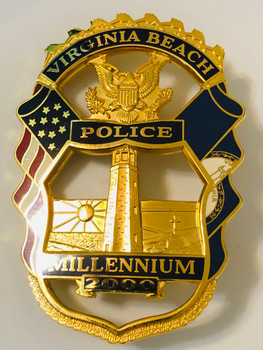 VIRGINIA BEACH POLICE 2000 MILLENNIUM BADGE