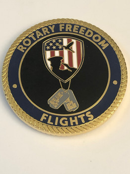 ROTARY FREEDOM FLIGHTS COIN