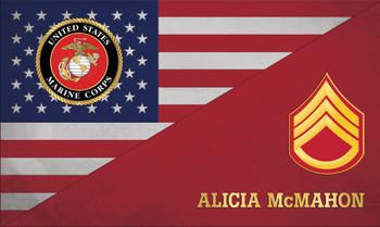 MILITARY USA FLAG PLAQUE