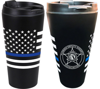 FDSA THIN BLUE LINE FLAG TRAVEL CUP