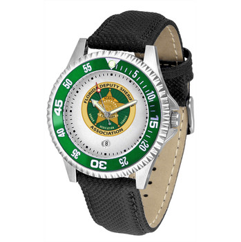 COMPETITOR MENS LEATHER WATCH