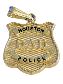 HOUSTON POLICE DAD CHARM