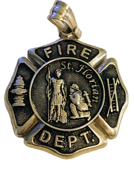 FIRE DEPT CHARM 925 SILVER
