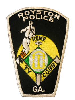 ROYSTON POLICE GEORGIA PATCH