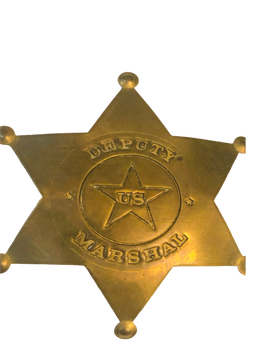 US DEPUTY MARSHAL  STAR BADGE MOVIE PROP