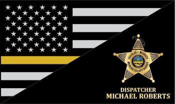 THIN LINE USA FLAG PLAQUE