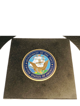 U.S. NAVY SEAL  GRANITE PAPERWEIGHT