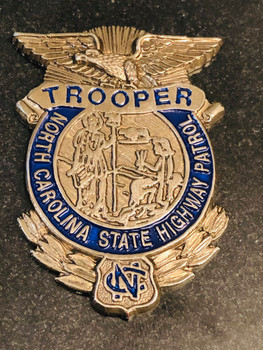 NORTH CAROLINA TROOPER  GRANITE PAPERWEIGHT