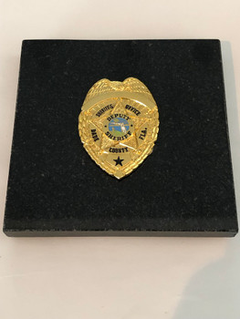 MIAMI DADE POLICE GOLD PAPERWEIGHT