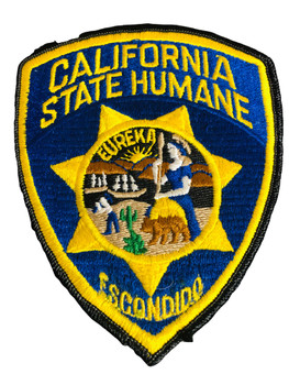 CA HUMANE POLICE PATCH