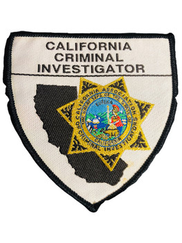 CA CRIMINAL INVESTIGATOR PATCH