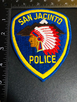 SAN JACINTO CA POLICE PATCH