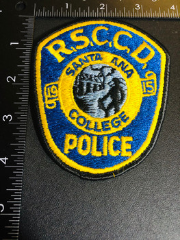 SANTA ANA CA POLICE COLLEGE PATCH