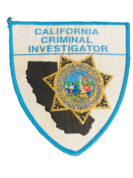 CA CRIMINAL INVESTIGATOR PATCH BLUE