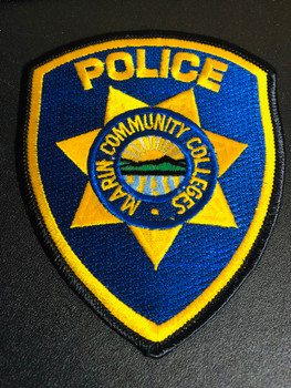 MARIN CA COLLEGE POLICE PATCH NEW