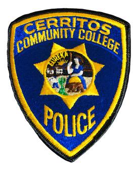 CERRITOS CA COLLEGE POLICE PATCH