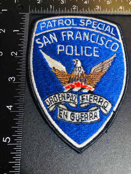 SAN FRANCISCO CA  PATROL SPECIAL POLICE PATCH