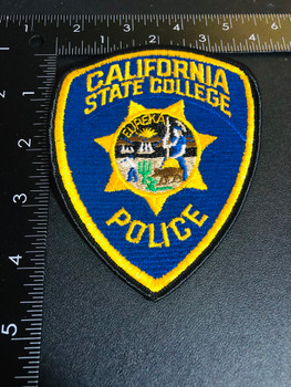 CA STATE COLLEGE POLICE PATCH