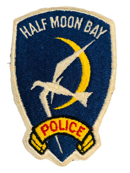 HALF MOON POLICE CA PATCH