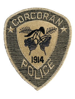 CORCORAN POLICE CA PATCH