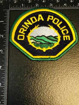 ORINDA POLICE CA PATCH