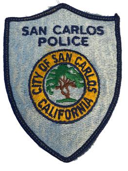 SAN CARLOS CA POLICE PATCH