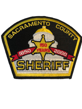 SACRAMENTO SHERIFF CA 150TH PATCH