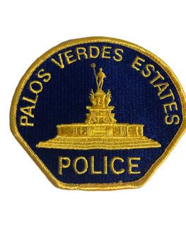 PALOS VERDES ESTATES CA POLICE PATCH