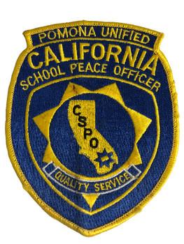 POMONA SCHOOL PEACE OFFICER CA PATCH