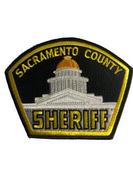 SACRAMENTO CTY SHERIFF BLACK  WIDE PATCH