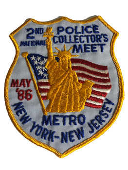 NY NJ POLICE 2ND COLLECTORS 1986 PATCH