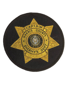 HARRIS CTY SHERIFF TX CAPTAIN PATCH