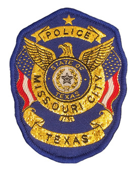 MISSOURI CITY POLICE TX PATCH