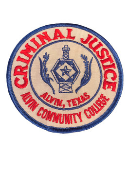 ALVIN COLLEGE CRIMINAL JUSTICE TX PATCH