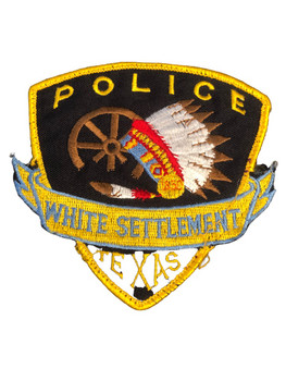 WHITE SETTLEMENT TX POLICE PATCH