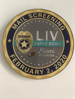 US POSTAL SUPERBOWL PLAQUE