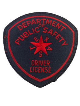 TEXAS DPS DRIVER LICENSE POLICE PATCH