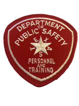 TEXAS DPS  TRAINING  POLICE  PATCH