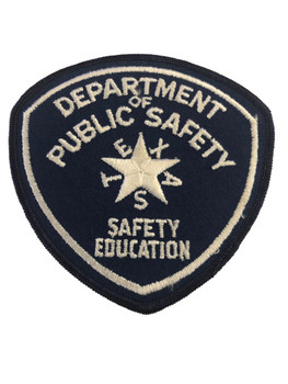 TEXAS DPS  SAFETY EDUCATION  PATCH POLICE