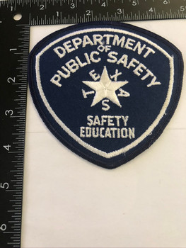 TEXAS DPS  SAFETY ED  PATCH POLICE