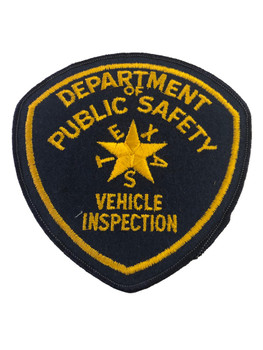 TEXAS DPS  VEHICLE INSPECTION  PATCH POLICE