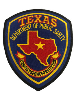 TEXAS DPS BLUE  POLICE PATCH