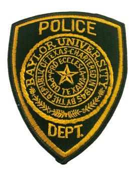 BAYLOR UNIV POLICE TX PATCH