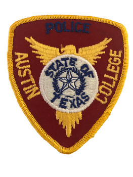 AUSTIN COLLEGE TX POLICE PATCH